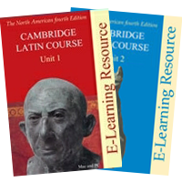 Covers of the E-Learning DVD for the North American 4th edition of the Cambridge Latin Course